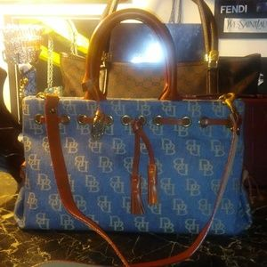 DOONEY & BOURKE blue canvas DB satchel
